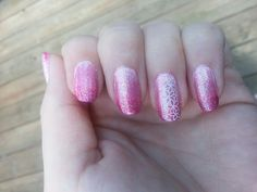 Pink gradient nails