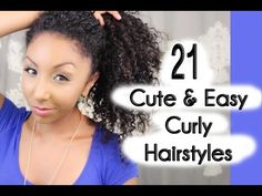 Very Cute! 21 Cute and Easy Curly Hairstyles! | BiancaReneeToday - YouTube