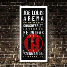 Chicago Blackhawks Subway Typography Art - Featuring Chicago Stadium Neighborhood Streets - Vintage Madhouse on Madison Unframed Print Chicago Blackhawks, Chicago Cubs, Joe Louis Arena, Red Wings Hockey, Retro Typography, Philadelphia Phillies, Pittsburgh Steelers, Toronto Blue Jays, Detroit Red Wings