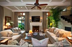 We love the furniture in this family room!