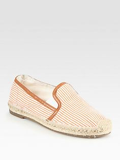 Joie Adrien Striped Canvas & Leather Espadrilles