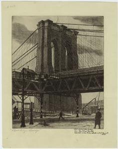 Brooklyn Bridge. (1934)
