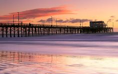 Newport Beach & Pier, Orange County - #NewportBeach, #NewportBeachPier, #OrangeCounty - http://www.wildnatureimages.com/Newport%20Pier%20Sunset.htm
