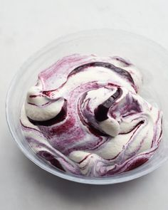 Blueberry Fool - English no-cook dessert perfect for summer.  Fresh fruit puree folded into whipped cream to be eaten right away, or allowed to chill overnight and become more mousse-like.