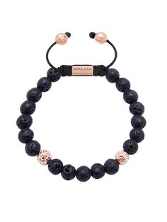Men's 14K Gold Collection, Rose Gold, Lava Stone