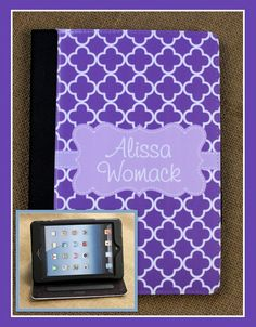 iPad Case 2 3 Air Masker Cover Monogrammed by ChicMonogram on Etsy