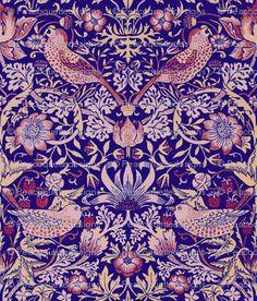 William Morris ~ Strawberry Thief ~ Violet