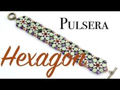 Hexagon Bracelet with superduo and honeycomb (not English) ~ Seed Bead Tutorials