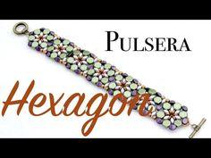 Tutorial Pulsera Hexagon con Superduo y Honeycomb