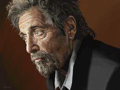 ©️Adam Howard / Adam Howard Art 2021 Al Pacino, Over The Years, Portrait, Illustration, Fictional Characters, Art, Art Background, Headshot Photography, Kunst