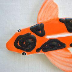 Koi  Fish Tile Ceramic mosaic Tiles for Mosaics Garden and  Art