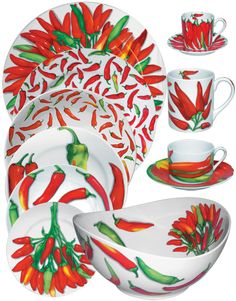 Taitù Milano - 'Peperoni' Fine Porcelain Dinnerware Collection