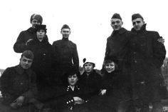 -American soldiers with Russian girls 1919 in Arkhangelsk