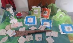 Little hand-made paper...with leafs and natural elements