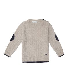 This Cream Cable-Knit Wool-Blend Sweater - Infant, Toddler & Boys by JoJo Maman Bébé is perfect! #zulilyfinds
