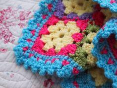 little heart granny square blanket   yarnaway: a crochet scrapbook