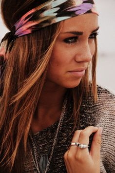 love her hair with this headband