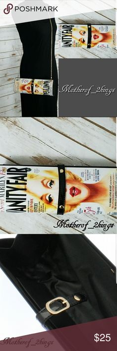 "🍁 VANITY FAIR ""MARILYN"" MAGAZINE CLUTCH DARE TO BE DIFFERENT with this VANITY FAIR ""MARILYN"" MAGAZINE CLUTCH!   This CLUTCH will look GREAT with a Red ""Lip"" 💋 and a pair of RED Stilettos for that extra POP! 👠  Snap closure.  Can also be used as a Crossbody. Gold Chain Shoulder Strap included.  👝 Approx. 11"" Wide × 5"" Depth,  48"" Long.     Gold Chain Shoulder Strap  🛍 BUNDLE TO SAVE MORE 🛍 Bags Clutches & Wristlets"