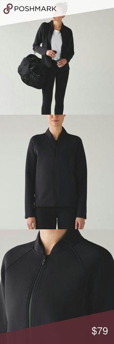 ❤ NWT Lululemon Embrace The Space Jacket This jacket packs sweat-wicking, thermo-regulating technology into a classic style so you can embrace the chill.  Spacer  Is sweat-wicking to help you feel cool and dry lululemon athletica Jackets & Coats