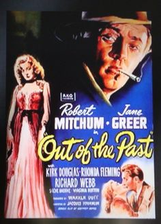 """Best Film Posters : """"Out Of The Past""""  Film Noir Movie Poster."""