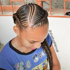 Easy Boho Hairstyle For Long Hair - 20 Trendy Half Braided Hairstyles - The Trending Hairstyle Feed In Braids Hairstyles, Black Girl Braided Hairstyles, Short Hair Updo, Little Girl Hairstyles, Weave Hairstyles, Natural Hair Braids, Braids For Black Hair, Natural Hair Styles, Braids For Black Kids