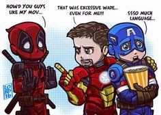 "Captain America (in Avengers Age of Ultron) ""Language!"","