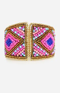 Bold Beaded Cuff Bracelet