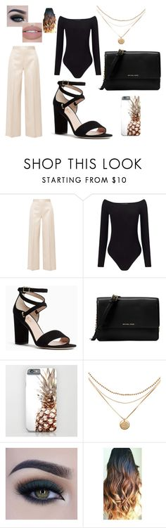 """""""Luce hermosa en tu oficina."""" by malalapototo on Polyvore featuring Belleza, The Row, Miss Selfridge, Kate Spade, Michael Kors y Too Faced Cosmetics"""