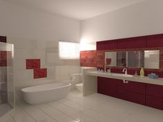 Bathroom designed and constructed by Amer Adnan Associates.