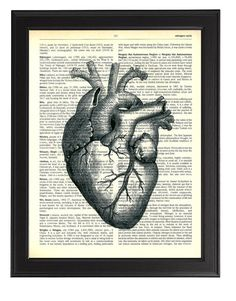 Hey, I found this really awesome Etsy listing at https://www.etsy.com/listing/192527257/black-heart-anatomy-art-print-cool
