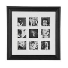 Black 9 Picture Photoframe