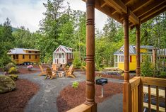 Thinking about living small? A little R and R in a tiny house hotel will let you test drive life in a bitsy abode.: Tiny House Village Nestled in a Forest Tiny House Hotel, Tiny House Rentals, Tiny House Luxury, Tiny House Big Living, Tiny House Village, Tiny House Company, Best Tiny House, Tiny House Trailer, Modern Tiny House