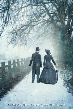 A WINTER ROMANCE - PHOTOLee Avison--They were oblivious to the cold snow in the thin slippers they wore.  Their feet were nearly frozen, yet, they did not feel it.