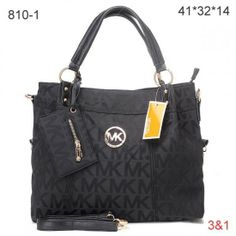 Michael Kors Classic Monogrammed Removable Strap Tote Black