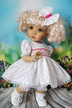 Space Theme Preschool, Sarah Kay, Vintage Artwork, Vintage Dolls, Beautiful Dolls, Minis, Doll Clothes, Harajuku, Flower Girl Dresses