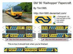 SM '90 'Railhopper' Papercraft by Tim1995