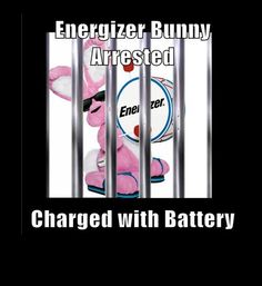 energizer bunny battery pun, funny puns