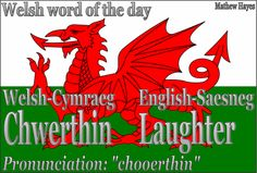Welsh word of the day: Chwerthin/Laughter