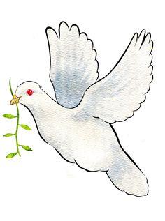 Keiran Morris Art : Peace Dove Olive Branch