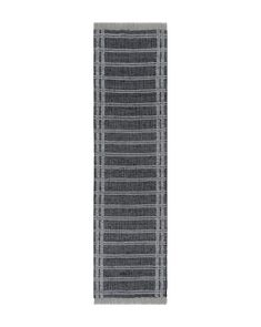 With contrasting hues of dark gray and white, the Maven Indoor / Outdoor Rug uses crossed lines to direct the eye and give a feeling of containment and cohesion to the rug. Made on a loom using recycled polyester, the Maven Indoor / Outdoor Rug is soft to the touch and has no pile, making it easy to clean and ideal fo Indoor Outdoor Rugs, Outdoor Areas, Polymer Resin, Grey And White, Gray, Pop Up Shops, Home Rugs, Rug Size, Loom