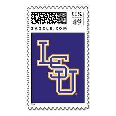 Interlocking LSU Logo 3 Stamps #lsustamp #lsu