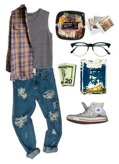 """""""Trying to be healthy"""" by riz-zy on Polyvore featuring Converse, Retrò, MANGO, Timberland and Chronicle Books"""