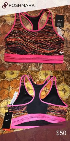 NWT Nike sports bra Retro Nike sports bra New with tags and never worn. This sports bra has a black mesh back. Nike Other