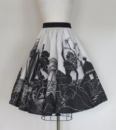 50s Mexican hand painted souvenir skirt size by SwanSongVintage1, $109.00
