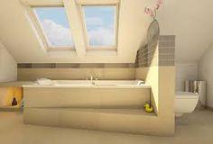 planung badezimmer im neubau eckbadewanne gefliest mit dachschr ge badewanne ber eck. Black Bedroom Furniture Sets. Home Design Ideas