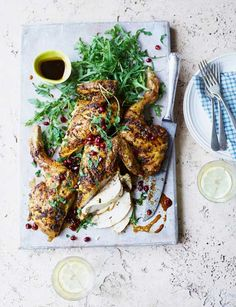Persian-style spatchcock barbecued chicken