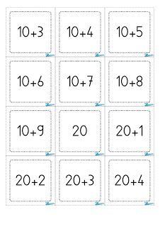 Cartes addition dizaines et unités