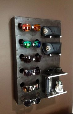 99 DIY Creative Ideas To Make Sunglasses Display Shelf (21)