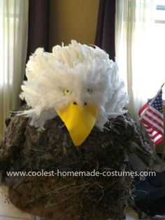 Homemade American Bald Eagle Costume...This is what Kenzie wants to be this year.
