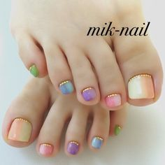 Make an original manicure for Valentine's Day - My Nails Manicure, Pedicure Nail Art, Toe Nail Art, Love Nails, Pretty Nails, My Nails, Sparkle Nails, Glitter Nails, Painted Toe Nails